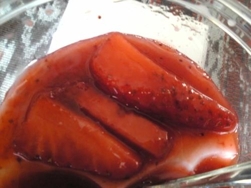 絹ごしフルーツ杏仁いちご