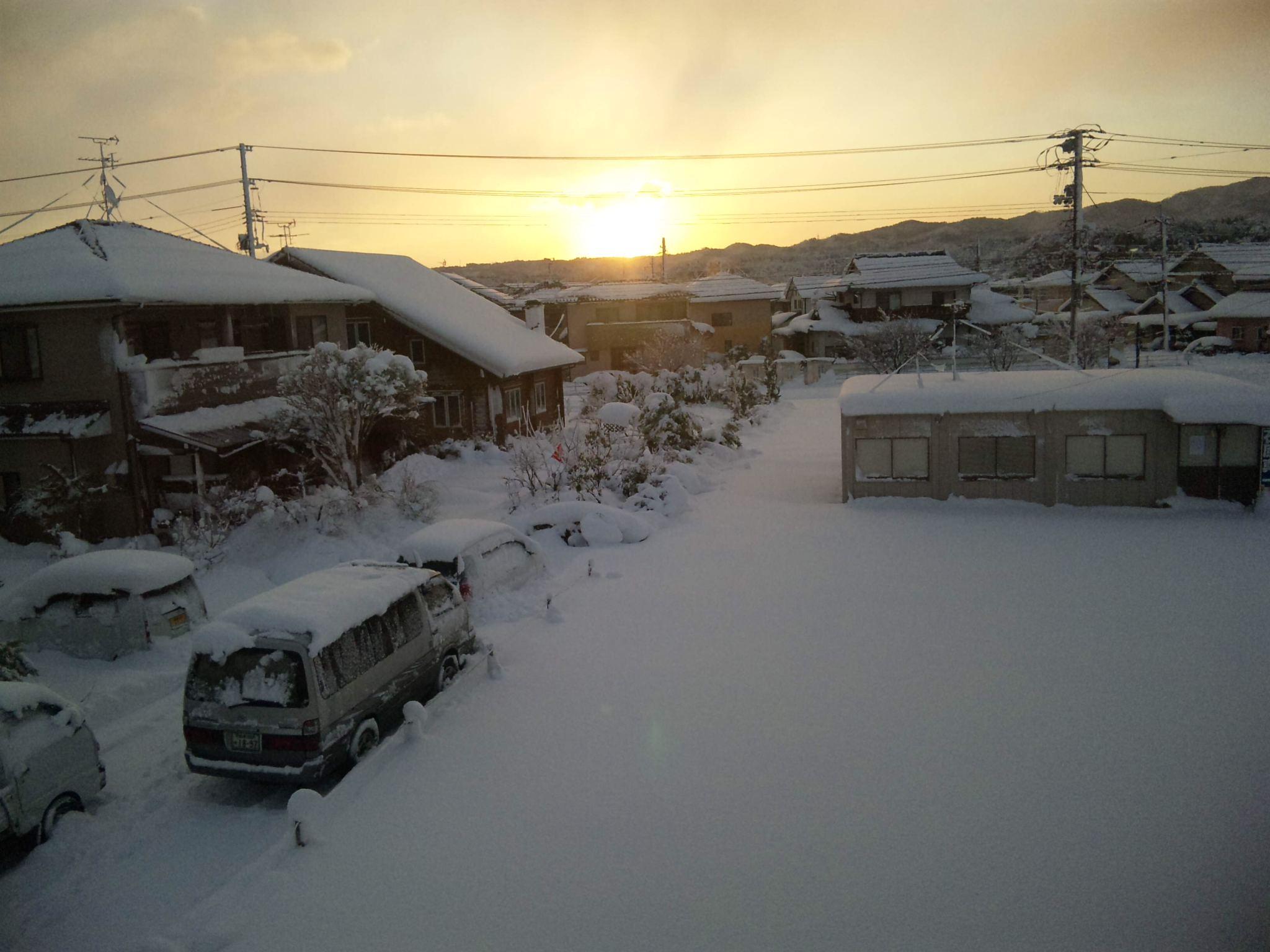 大雪の元旦